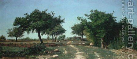 Path through the Apples Trees by Antoine Chintreuil - Reproduction Oil Painting
