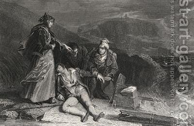 Cleveland's Rescue, from 'The Pirate' by Sir Walter Scott (1771-1832) by (after) Chisholm, Alexander - Reproduction Oil Painting
