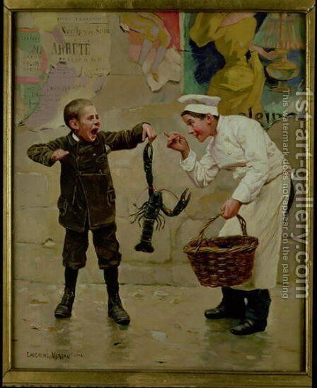 Le Petit Comis (d.1902) by Paul Charles Chocarne-Moreau - Reproduction Oil Painting