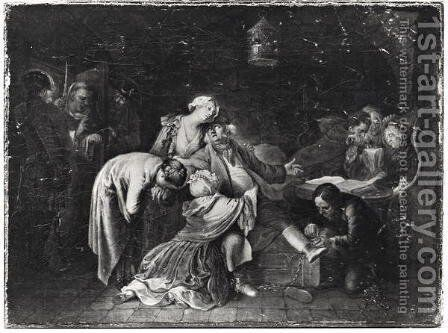 Jean Calas (1698-1762) Bidding Farewell to his Family by Daniel Nikolaus Chodowiecki - Reproduction Oil Painting