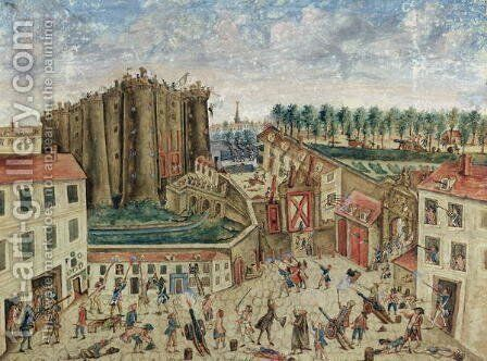 The Siege of the Bastille, 1789 by Claude Cholat - Reproduction Oil Painting