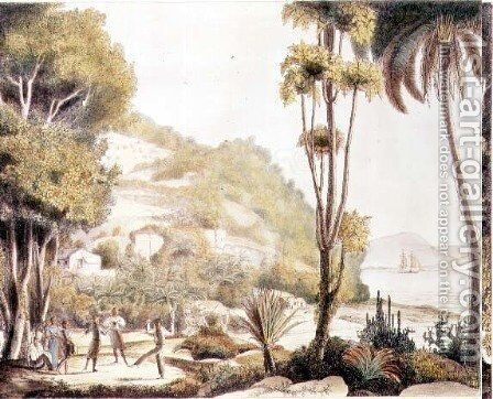 View of the coast of Brazil opposite the island of Santa Catarina, c.1825 by (After) Choris, Ludwig (Louis) - Reproduction Oil Painting