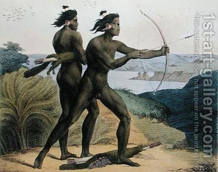 Hunting in the Bay of San Francisco, from 'Voyage Pittoresque Autour du Monde', 1822 by (After) Choris, Ludwig (Louis) - Reproduction Oil Painting