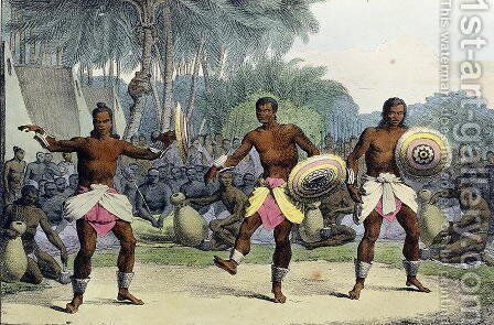 Natives of the Sandwich Islands Dancing, from 'Voyage Pittoresque Autour du Monde', 1822 by (After) Choris, Ludwig (Louis) - Reproduction Oil Painting