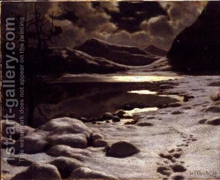 Moonlight in Winter by Ivan Fedorovich Choultse - Reproduction Oil Painting