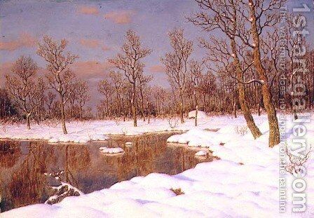 A November Evening by Ivan Fedorovich Choultse - Reproduction Oil Painting
