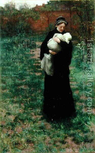Sorrow's Solace, or In Time of War, 1885 by James Elder Christie - Reproduction Oil Painting