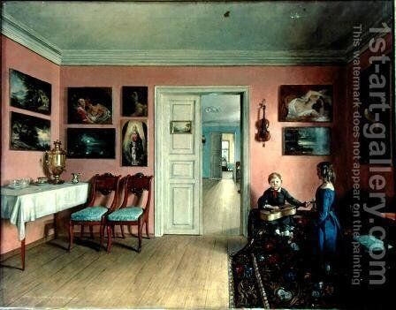 In the Artist's Room, 1855 by Iwan Chrutsky - Reproduction Oil Painting