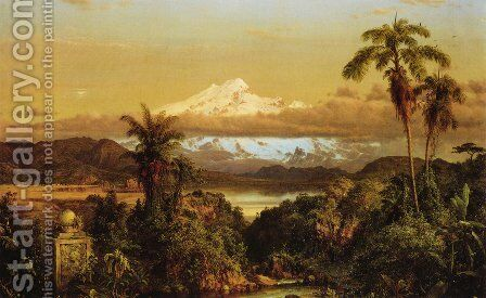 Cayambe, 1858 by Frederic Edwin Church - Reproduction Oil Painting