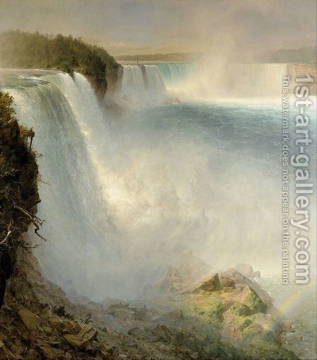 Niagara Falls, 1867 by Frederic Edwin Church - Reproduction Oil Painting