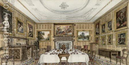 The Dining Parlour by Martha Chute - Reproduction Oil Painting