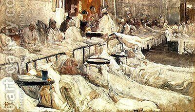 The Hospital Ward by Cesare Ciani - Reproduction Oil Painting