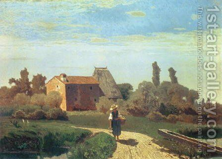 May Morning by Guglielmo Ciardi - Reproduction Oil Painting