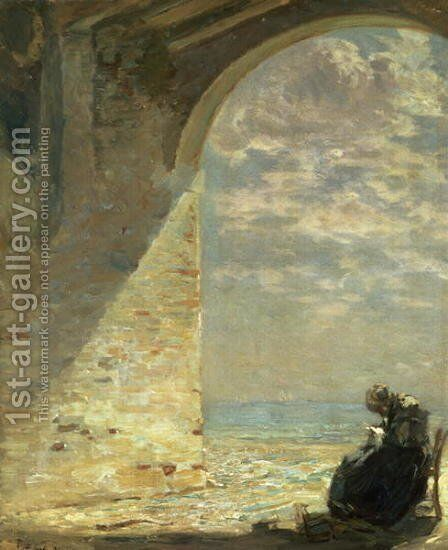 At The Gateway, 1911 by Guglielmo Ciardi - Reproduction Oil Painting