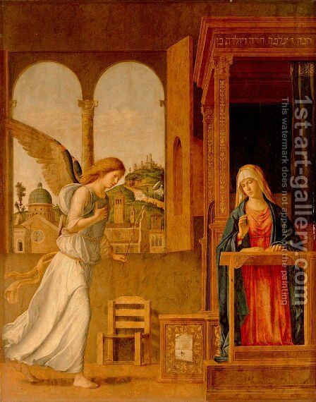 The Annunciation, 1495 by Giovanni Battista Cima da Conegliano - Reproduction Oil Painting
