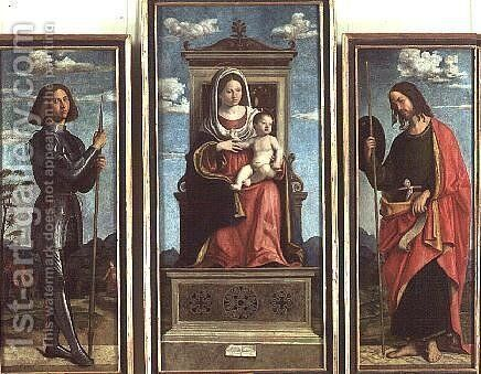 Madonna and Child with St. George and St. James, c.1510 by Giovanni Battista Cima da Conegliano - Reproduction Oil Painting