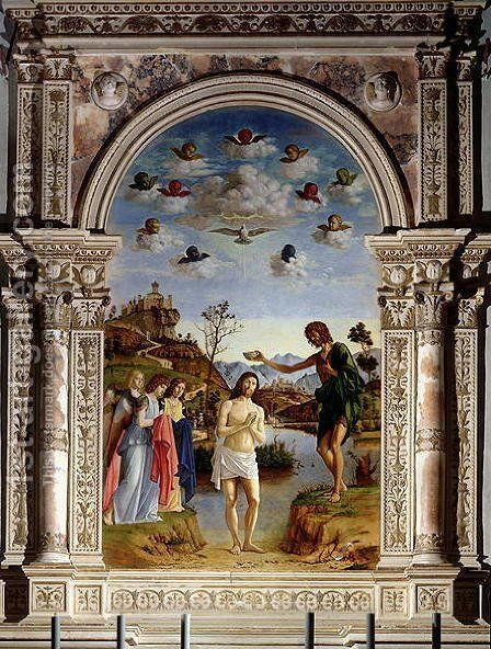 The Baptism of Christ by Giovanni Battista Cima da Conegliano - Reproduction Oil Painting