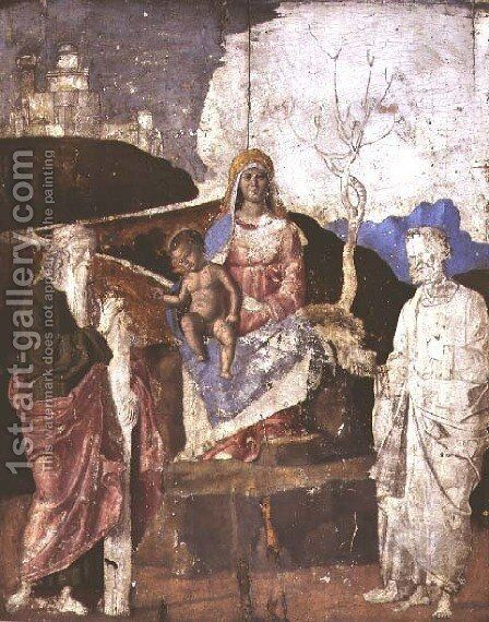 Virgin and Child with St. Andrew and St. Peter, c.1500 by Giovanni Battista Cima da Conegliano - Reproduction Oil Painting