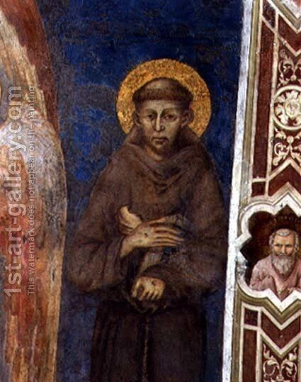 St. Francis by (Cenni Di Peppi) Cimabue - Reproduction Oil Painting