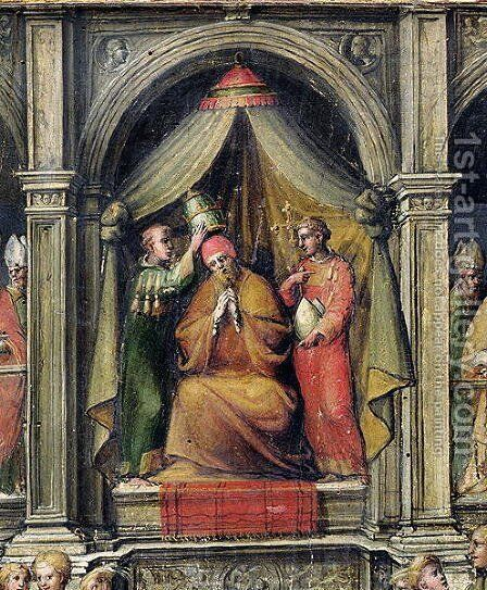Coronation of Pope Paul II (1417-71) 1534 by Giovanni di Lorenzo Cini - Reproduction Oil Painting