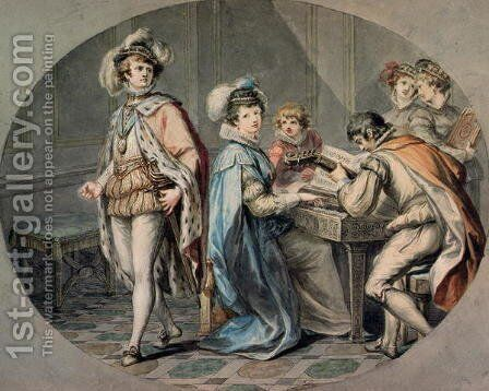The Jealousy of Darnley by Giovanni Battista Cipriani - Reproduction Oil Painting