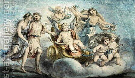 The Triumph of Cupid by Giovanni Battista Cipriani - Reproduction Oil Painting