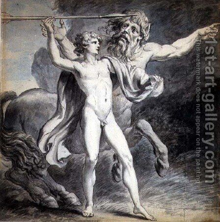 The Education of Achilles, 1776 by Giovanni Battista Cipriani - Reproduction Oil Painting