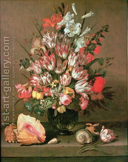 Tulips, Lilies, Irises and Roses by Anthony I Claesz. - Reproduction Oil Painting