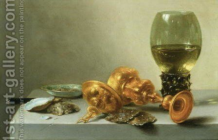 Still Life with a Roemer by Pieter Claesz. - Reproduction Oil Painting
