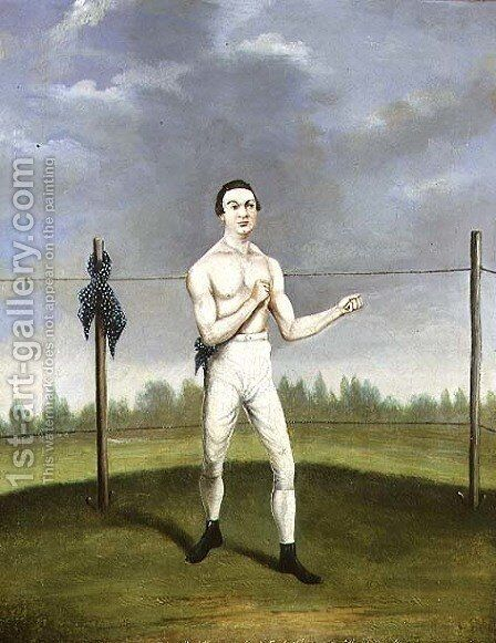 Hoyles the `Spider Champion of the Feather Weights' by A. Clark - Reproduction Oil Painting
