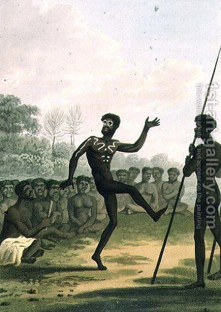 The Dance, aborigines from New South Wales by John Heaviside Clark (after) - Reproduction Oil Painting