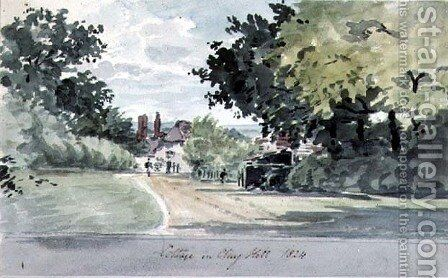Cottage on Clay Hill, Enfield by T. Clark - Reproduction Oil Painting