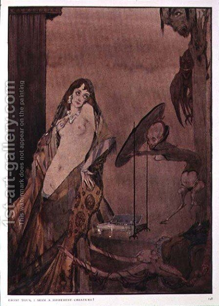 """Drest thus, I seem a different creature"", illustration from 'Faust' by Goethe by Harry Clarke - Reproduction Oil Painting"