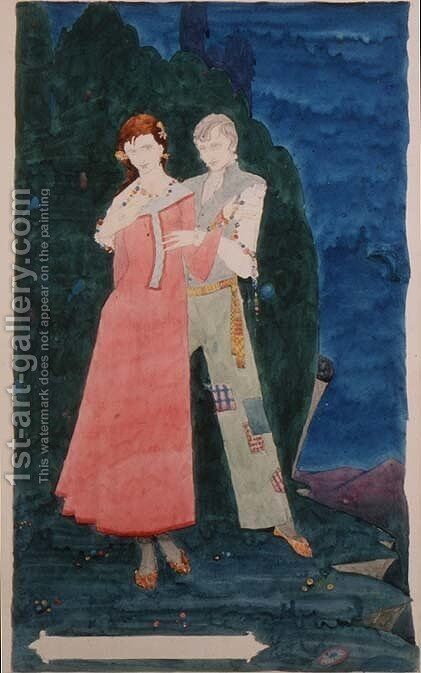 'The Playboy of the Western World' by Harry Clarke - Reproduction Oil Painting