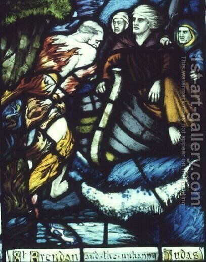 The Meeting of St. Brendan with the Unhappy Judas, 1911 by Harry Clarke - Reproduction Oil Painting