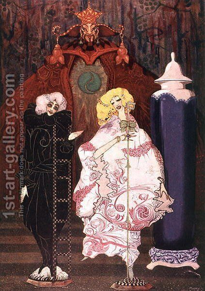 """""""Have You Really the Courage?"""", illustration from 'The Shepherdess and the Chimney Sweep' by Harry Clarke - Reproduction Oil Painting"""