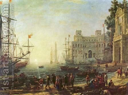 Harbour with Villa Medici, 1637 by Claude Lorrain (Gellee) - Reproduction Oil Painting