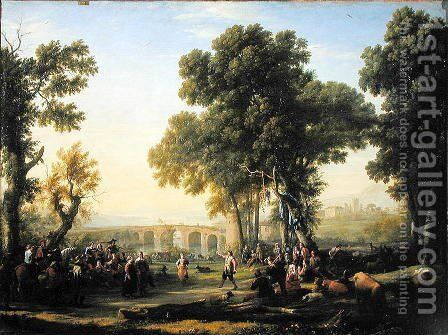 The Village Festival, 1639 by Claude Lorrain (Gellee) - Reproduction Oil Painting