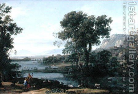 The Rise of the Roman Empire, 1661 by Claude Lorrain (Gellee) - Reproduction Oil Painting