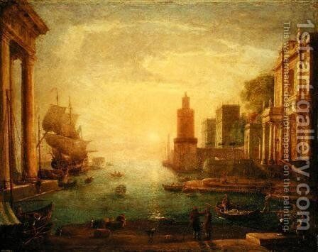 The Grand Canal, Venice by Claude Lorrain (Gellee) - Reproduction Oil Painting