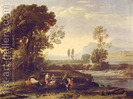 The Rest on the Flight into Egypt, 1635-6 by Claude Lorrain (Gellee) - Reproduction Oil Painting