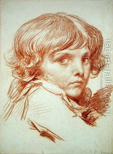 Portrait of a Young Boy by Claude Lorrain (Gellee) - Reproduction Oil Painting