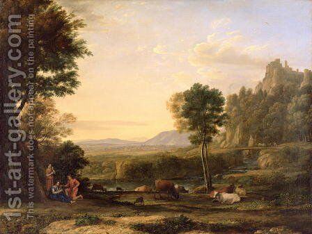 Pastoral Landscape, 1645 by Claude Lorrain (Gellee) - Reproduction Oil Painting