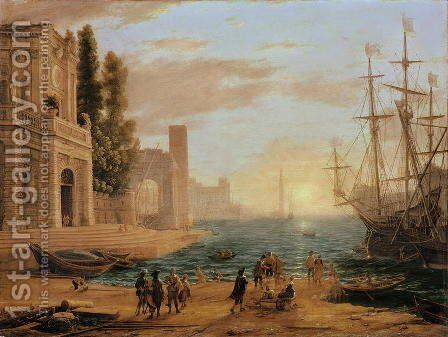 A Seaport, 1639 by Claude Lorrain (Gellee) - Reproduction Oil Painting