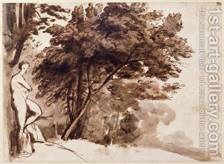 Statue of Venus in the Garden of the Villa Medici, Rome by Claude Lorrain (Gellee) - Reproduction Oil Painting