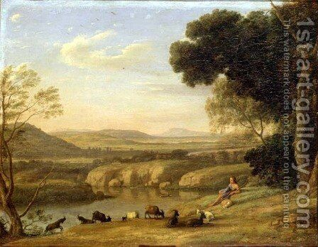 Pastoral Landscape by Claude Lorrain (Gellee) - Reproduction Oil Painting