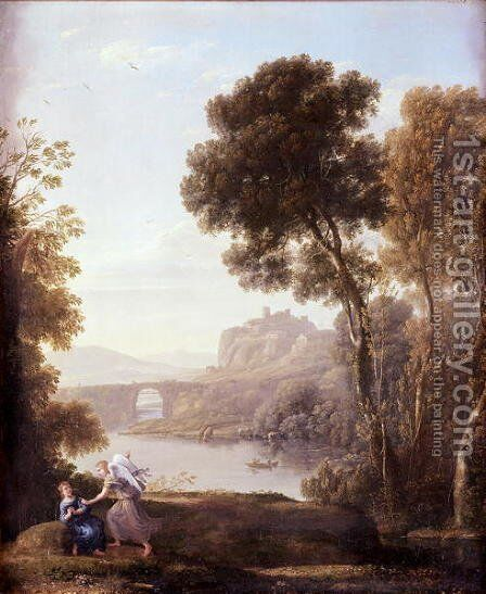 Landscape with Hagar and the Angel, 1646 by Claude Lorrain (Gellee) - Reproduction Oil Painting