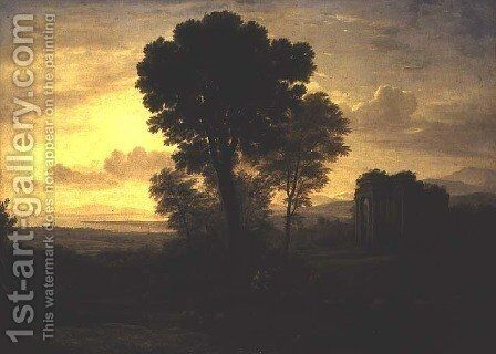 Morning by Claude Lorrain (Gellee) - Reproduction Oil Painting