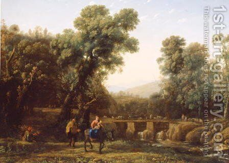 The Flight into Egypt, c.1635 by Claude Lorrain (Gellee) - Reproduction Oil Painting
