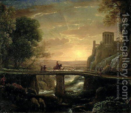 Landscape with an Imaginary View of Tivoli, 1642 by Claude Lorrain (Gellee) - Reproduction Oil Painting